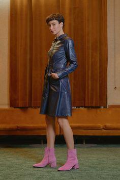 GANZ - vegan leather shirt dress Leather Shirt Dress, Leather Skirt, Dresser, Vegan Leather, Women Wear, Punk, Contemporary, Skirts, Collection