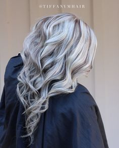 Platinum blonde with lowlights by Tiffany