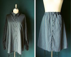 How to make a skirt from a man's shirt.