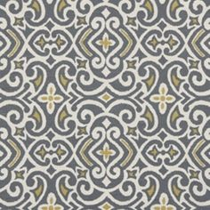 New Damask Greystone Contemporary Drapery Fabric by Robert Allen