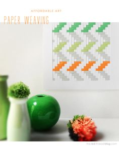 TUTORIAL :: How to make a paper weaving artwork