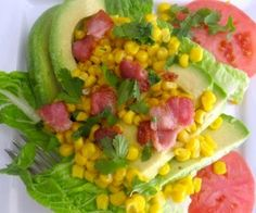 Avocado Corn Salad with Lime Vinaigrette