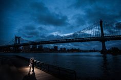 A super romantic wedding photography at #DUMBO area in Brooklyn, New York City. Doing the engagement session at dusk and at night yields unique images.