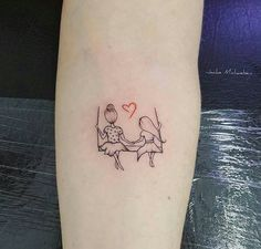 92c3c4f60 Small mother daughter tattoo Stick Figure Tattoo, Mommy Daughter Tattoos, Small  Tattoos Mother Daughter