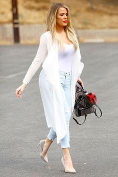 Khloé Kardashian Duster Coat Style - Khloé