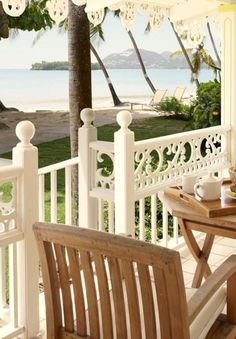 Beachside brunch on the private terrace. #StLucia