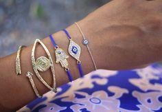 Wheretoget - Selection of evil eye bracelets