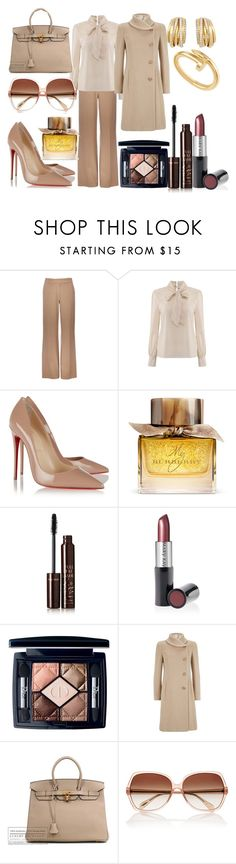 """""""Untitled #642"""" by sandrine-pereira ❤ liked on Polyvore featuring Wallis, Christian Louboutin, Burberry, de Grisogono, Charlotte Tilbury, Mary Kay, Christian Dior, Armani Collezioni, Hermès and Cartier"""