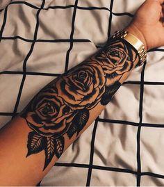 Rose sleeve tattoo for flower girls ❤️