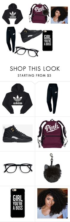 """School Dressout"" by babygirlcc ❤ liked on Polyvore featuring adidas and NIKE"
