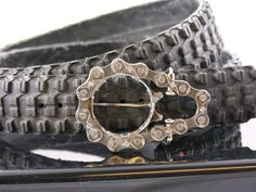 Anything recycled is right up my alley - check out this cool belt and belt buckle made from bike parts!