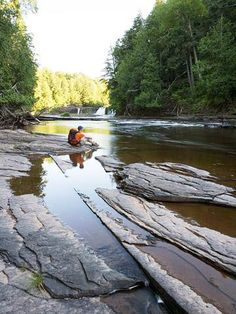 Porcupine Mountains Wilderness State Park Michigan's largest state park -- 90 miles of trails leading to waterfalls, rustic campsites and mountain views