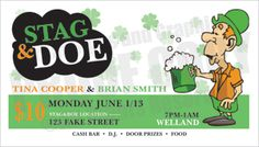 31 best stag and doe tickets images on pinterest ticket design
