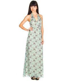 Vestidos Vero Moda Klorina Halter Maxi Verde Agua en Nice & Crazy