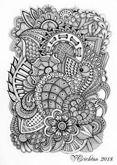 209 Best doodle art designs images in 2019 | Sketchbooks, Zentangle