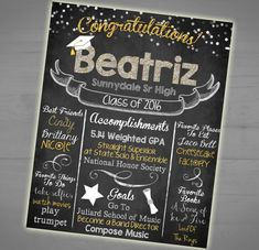 Hey, I found this really awesome Etsy listing at https://www.etsy.com/listing/278937508/graduation-chalkboard-sign-high-school