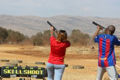 Laser Clay Pigeon Shooting in South Africa | Teambuilding - Dirty Boots Adventure Activities, Fun Activities, Latest Computer Technology, Clay Pigeon Shooting, Adventure Holiday, Team Building, South Africa, Boots, Short I Activities