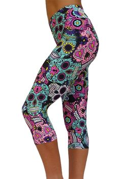Sugar Skulls exercise capris, I NEED these!!! So cute!