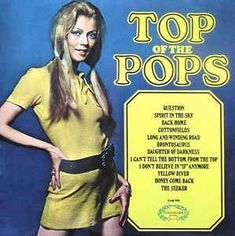 Top Of The Pops Volume 11 UK vinyl LP compilation, opening on a cover of Spirit In The Sky 16 In The Year 2525, Nostalgic Music, 1970s Music, Pop Albums, Pochette Album, Pop Hits, Lp Cover, Cover Art, Cover Songs