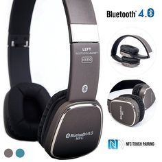Bluetooth Headphones, Alpatronix HX110 High Performance Bluetooth Wireless Headset with NFC, Mic, Volume/Playback Controls, Noise Isolation for Smartphones, Computers, Laptops and Tablets - (Grey) >>> Click image to review more details. (This is an affiliate link and I receive a commission for the sales) #BluetoothHeadsets