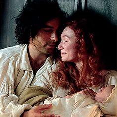 Ross, Demelza and Baby Julia.