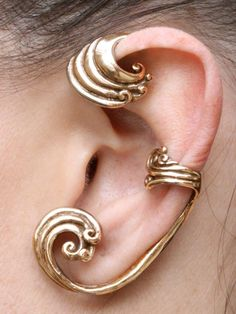 Ear Wrap Wave Ear Wrap Wave Ear Cuff Wave Jewelry от martymagic