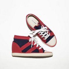 ISABEL MARANT Sneakers Baltimore Sneaker Red & Marine