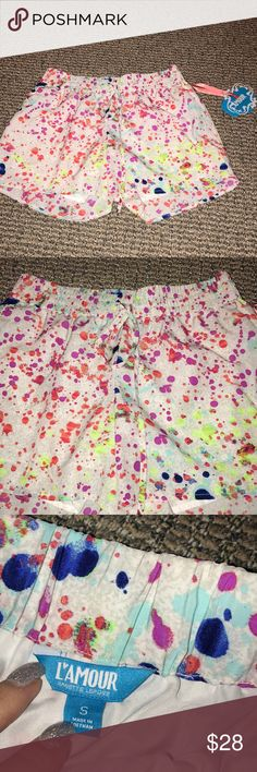NWT! Patterned shorts Fun bright and colorful shorts. Drawstring to adjust to waist. Shorts
