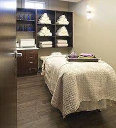Relaxation and Facial Room! Relaxation and Facial Room! Massage Room Decor, Massage Therapy Rooms, Spa Room Decor, Home Spa Room, Spa Rooms, Spa Design, Spa Room Ideas Estheticians, Esthetics Room, Spa Treatment Room