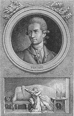 Werther, Kupferstich von Daniel Berger nach Nikolaus Daniel Chodowiecki, 1775 (Ex. Goethe-Museum, Düsseldorf)