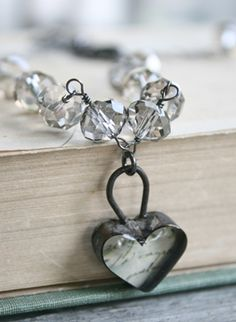 The Devotion Necklace . Handmade Soldered Heart & Silver . Antiquities . Tippy Stockton