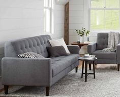 Scandinavian Designs - Enjoy the refined comfort of the Camilla sofa, with a perfectly angled backrest and long armrests. This refreshingly modern design is sure to be the focal point in any living room.