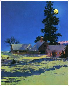 New Hampshire. this one is cheating because it is a painting, but I love Maxfield Parrish so I'm including him anyway.