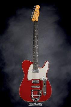 Fender Custom Shop Double TVJ Telecaster with B-5 Bigsby - Dakota Red | Sweetwater.com | Solidbody Electric Guitar with Alder Body, Maple Neck, Ebony Fingerboard, 2 x Humbucking Pickups, Bigsby B-5 Vibrato Tailpiece, and Hard Case - Dakota Red
