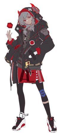 Female Character Design, Character Design References, Character Design Inspiration, Character Concept, Character Art, Cyberpunk Anime, Cyberpunk Character, Anime Art Girl, Anime Guys