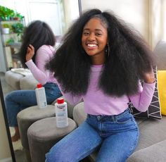 Why is mixing oils for natural hair growth so important? When you learn the right way to mix oils for natural hair growth you will grow your. Long Natural Hair, Natural Hair Growth, Natural Face, Black Girls Hairstyles, Afro Hairstyles, Big Hair, Your Hair, Short Hair, Protective Styles