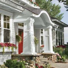 Love the portico/entry | Photo: Andrea Rugg | thisoldhouse.com | from Secrets to Great Curb Appeal