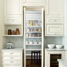 Hidden Pantry, Transitional, kitchen, Atlanta Homes & Lifestyles