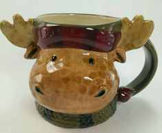 MOOSE ANTLERS Coffee Soup Mug St. Nicholas Square Heartland Winter Holiday | Collectibles, Decorative Collectibles, Mugs, Cups | eBay!