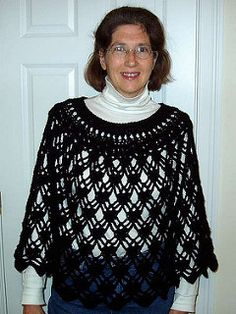 Pin by clairy on diy crochet pinterest ponchos free pattern and ravelry elegant lace poncho pattern by dot matthews dt1010fo