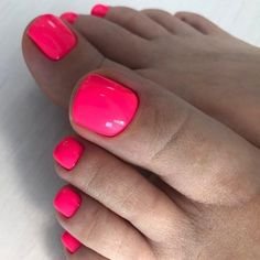 Pink Neon Color for Toe Nail ❤ See more ideas on our blog!! #naildesignsjournal #nails #nailart #naildesigns #toenails #toenailcolors #pedicure #toes Green Nail Designs, Cute Nail Art Designs, Halloween Nail Designs, Colorful Nail Designs, Toe Nail Designs, Beautiful Nail Designs, Halloween Nails, Easy Halloween, Pedicure Colors