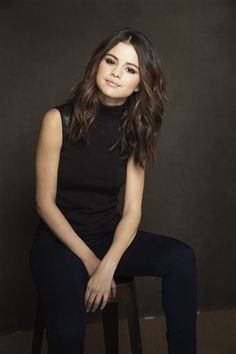 "Selena Gomez posing for the ""Rudderless"" portraits at the 2014 Sundance Film Festival."