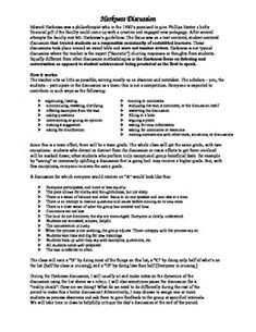 From Electric English...This is the assessment that I created for a unit on Anthem by Ayn Rand. The Harkness Method is similar to a Socratic Seminar in that the students are expected to use the material and subject matter from the book as a springboard for discussion with each other.