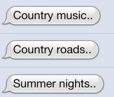 yes..........thank God im a country girl