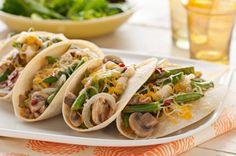 Tacos de ejotes y hongos