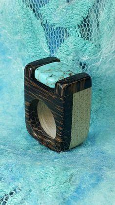 Olcay made this wooden ring November 2016 Maple & Black Palm & Turquise + Acrylic varnish + Carnauba