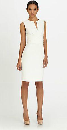 Victoria's cream dress