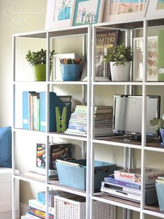 Streamlined Entertainment Center awesome Ikea hack! http://www.ivillage.com/ikea-hacks-vittsjo-shelves-and-tables/7-a-548376