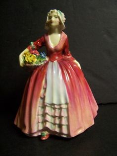 """Royal Doulton Figurine Janet - Mom had a collection of Royal Doultons - the ladies and the child figurines...My dad knew their value and jokingly called them the """"dust catchers"""""""