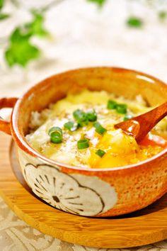 朝食に♪簡単☆とろける♡卵チーズご飯☆